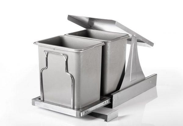 سطل زباله ریلی دو مخزن متوسط ریل کف